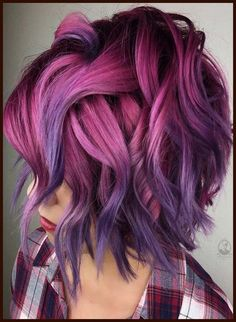 34 beautiful purple to pink hair color ideas - Hair Color I . - 34 beautiful purple to pink hair color ideas – Hair Color I … 34 beautiful purple to pink hair color ideas – Hair Color I … Hair Color Purple, Cool Hair Color, Edgy Hair Colors, Unicorn Hair Color, Vivid Hair Color, Creative Hair Color, Purple Style, Bright Hair Colors, Colours