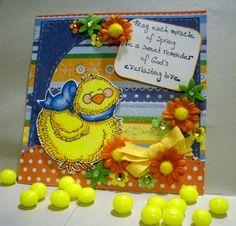 Meljen's digital stamps, Easter, Spring, card