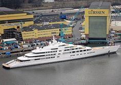 German-based luxury yacht builder Lurssen has launched the world's largest yacht, the 180m long Azzam. With an estimated gross tonnage of 14,000GT and a price tag of $520 million, the Azzam is sailing into the record books.