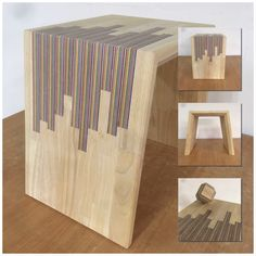 Rubberwood with rainbowwood inlay, perfect combo for a rivertable. Plywood, Woodworking, River, Table, Design, Hardwood Plywood, Tables, Carpentry