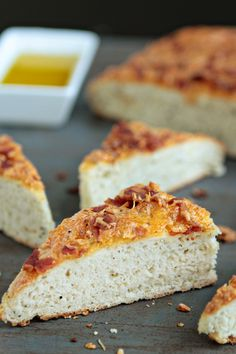 Italian Food ~ #food #Italian #italianfood #ricette #recipes ~ Bacon and Cheese Focaccia Bread