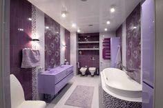 Purple and grey bathroom decor lavender bathroom set lavender bathroom accessories lavender bathroom accessories purple and . purple and grey bathroom decor Small Bathroom Paint, Gray Bathroom Decor, Bathroom Paint Colors, Gold Bathroom, Modern Bathroom, Colorful Bathroom, Bathroom Images, Bath Decor, Bathroom Sets