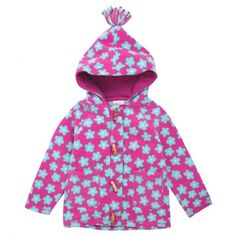 Polar Fleece Flower Duffle Jacket - JoJo Maman Bébé Holiday