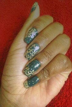 Indian Bridal Nail Art Design