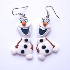 Christmas gifts, Stocking Stuffers, Snowman Earrings, Olaf Frozen Earrings, White Earrings, Funny Earrings, Polymer Clay Earrings Jewelry