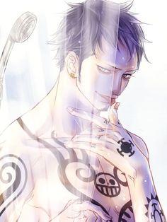 Image about one piece in 💖💗Trafalgar Law🍙💘 by Debora Read Hot Anime Boy, Anime One, Anime Manga, Anime Guys, One Piece Manga, One Piece Images, One Piece Pictures, Trafalgar Law, Zoro