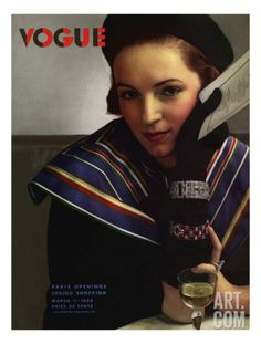 Vogue Cover - March 1934 Regular Giclee Print by Edward Steichen at Art.com