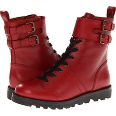 Marc by Marc Jacobs-Red Leather Boots