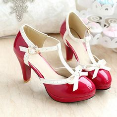 Buy 4 color Big Size summer shoes sweet princess style high heels girl tenis PU sapato new arrival 2014 sandal at Geek - Smarter Shopping Pretty Shoes, Beautiful Shoes, Cute Shoes, Me Too Shoes, Women's Shoes, Shoe Boots, Pin Up Shoes, Golf Shoes, Footwear Shoes