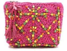 Antik batik Crochet Pouch Antik Batik