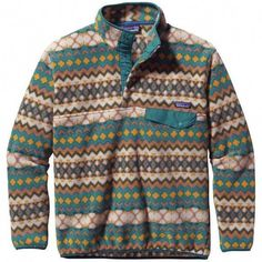 Old School, New School. No matter what school, you will look great in this pattern! Patagonia Mens Synchilla Snap-T Pullover in Cliff-Arbor. Dressing, Men's Fashion, Fashion Stores, Fashion Trends, Mens Outdoor Clothing, Patagonia Synchilla, Patagonia Pullover, Rugged Men, Mens Fleece