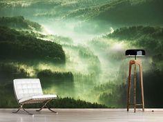 Foto #Tapete Über den Wäldern