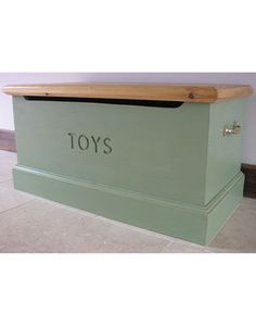 Natural Wooden Toy Box