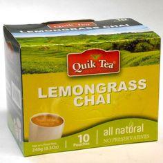 Quik Tea Lemongrass Chai lemon powdered drink mix beverage latte creamer spice #QuikTea