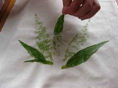 Flower Pounding on Fabric