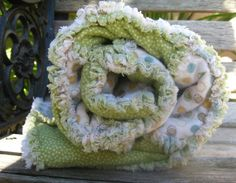Modern Print Baby Rag Quilt  Reserved for Sandra by JJandCompany, An adoption fundraiser.