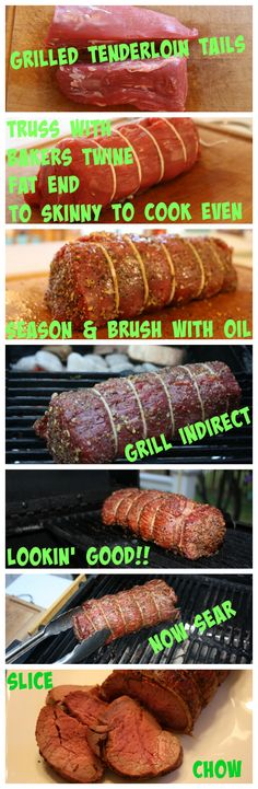 Grilled Beef Tenderloin Tails (and some tips on grilling) Barbecue Recipes, Grilling Recipes, Dog Food Recipes, Cooking Recipes, Smoker Recipes, Bbq, Grilled Beef Tenderloin, Fajita Recipe, Man Food