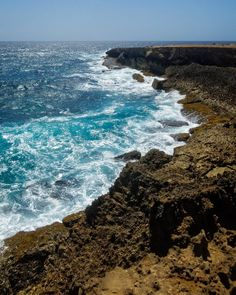Northeast Aruban Coast. June 2017.  #photography #photo #scenic #beautiful #landscape #aruba #travel #nature #sea #caribbean #ocean #outdoors #shore #waves #wind #relax #water