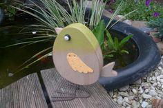 Deko-Objekte - Deko Vogel Holz - ein Designerstück von Kleine-Geschenketruhe bei DaWanda
