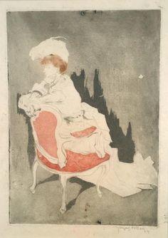 Lady L'Absinthe — Jacques Villon, La Parisienne (tournee a gauche,...