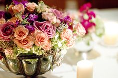 Lovely Centerpiece! flourishproductions.com ~ Photography by lorarodgers.com