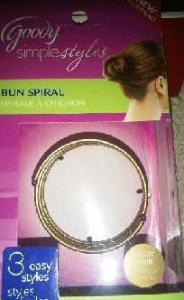 $6.99 Bun Spiral.  by Goody 4 light hair FREE SHIPPING