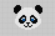 Panda Pixel Art from BrikBook.com #Panda #animal #cute #adorable #pandabear #pixel #pixelart #8bit Shop more designs at http://www.brikbook.com