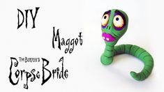 DIY: COMO FAZER a MAGGOT de NOIVA CADÁVER - tim Burton corpse Bride Tutorial Clay Figure #diy #timburton #halloween #diyhalloween #corpsebride #halloween #clay #statue #figure #maggot #claytutorial #tutorialbiscuit