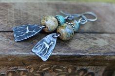 Boho Rustic Deer 'Wild Life earrings-Animal by Tribalis on Etsy