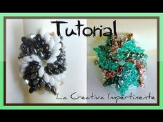 ▶ DIY beads ring - tutorial anello superduo e twin - Tricolor pinwheel - YouTube