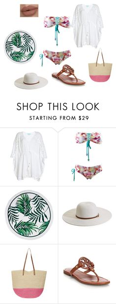 """Beach babe"" by elisempowell on Polyvore featuring Melissa Odabash, Dorothy Perkins and Tory Burch"