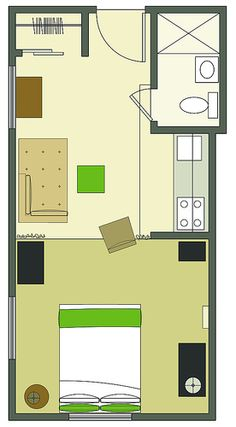 Laura floorplan, under 250 square feet