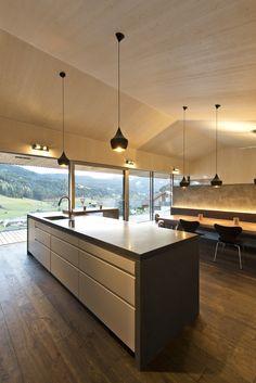 Küche_Kochinsel_Holzboden_Glasfront Kitchen Island, Improve Yourself, Home Decor, Kitchen, Wood Floor, Kitchen Dining Rooms, Cooking, Essen, House