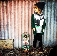 "Oh petit Nate you little skater!! Always love seeing him in our tees @kombilife  Such a rad little dude in our #MÔMES ""Bruce"" design ❤️