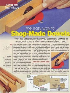 #2348 Making Dowels on Router Table - Joinery