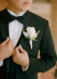 White boutonniere  // Photo: Esther Sun Photography // Coordination: live.love.create events // TheKnot.com