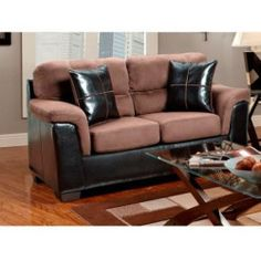 Buying - Chelsea Home Annabelle Loveseat - Laredo Chocolate