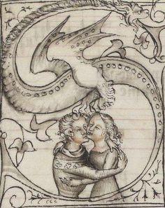 """Guillaume de Machaut (1300?-1377) """"Poetry""""  Maître de la Bible de Jean de Sy. Enlumineur, 1372-1377  manuscript"""