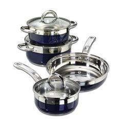 Kärcher Aurora 112624 - Batería de cocina para inducción (acero inoxidable, 7 piezas), color azul EUR 56,12