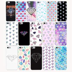 3773CA diamond supply co Hard Transparent Case Cover for iPhone 7 7 plus 4 4s 5 5s 5c SE 6 6s Plus case cover