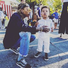 Wiz Khalifa and his son.