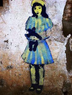 Barcelona Stencil Art by LoisInWonderland