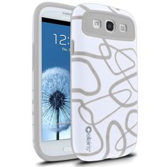 Cellairis Maze Case for Samsung Galaxy S III i9300 - White/Gray