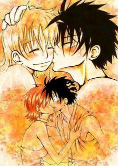 luffy and nami kiss. One Piece Manga, Watch One Piece, One Piece Comic, Nami One Piece, One Piece Ship, Ace Sabo Luffy, Luffy X Nami, Manga Cute, Monkey D Luffy