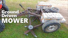 ✔ Mechanical Ground Driven Mower Made From JUNK!