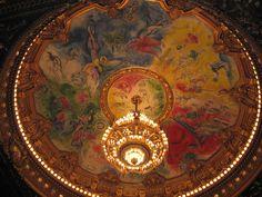 Marc Chagall artwork, Paris Opera House ceiling (1964).