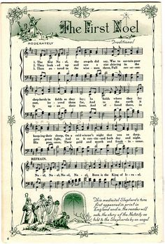 ♥ Sheet Music Printables for gift wrapping, or DIY Paper Projects .... 1st Noel by raidensgrammie21, via Flickr