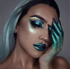 Who knew monster makeup could actually be so stunning?
