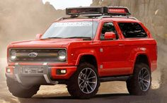 2017 ford bronco red