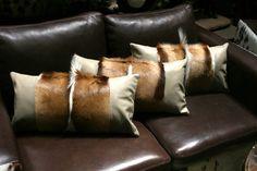 Springbok Pillow Case 21 x 10' springbok hide by Cowhidesusa